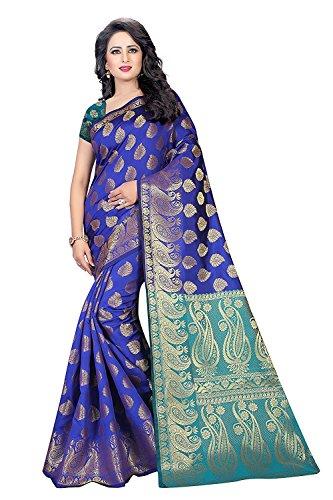 Indian Fashionista Women's Banarasi Silk Ric...