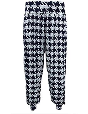Señoras Plus tamaño impreso harén pantalones con parte inferior Ali Baba para mujer pantalones 8–26