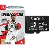 NBA 2K18 + SanDisk - Tarjeta microSDXC de 64 GB para Nintendo Switch