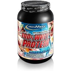 IronMaxx 100% Whey Protein – Proteinpulver für Eiweißshake – Eiweißpulver auf Wasserbasis mit Apfel-Zimt Geschmack – 1 x 900 g Dose