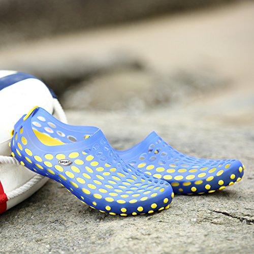 Xing Lin Chaussures DÉté Hommes LÉté De Nouvelles Chaussures Couple Respirant Anti-Dérapant Sandales Hommes Et Femmes Été Plage Marée Marée Chaussures Chaussures Blue blue