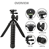 #5: Yantralay 12 inch Flexible Octopus Gorillapod Tripod With Quick Release Plate, Mobile Holder And Rotating Ball Head For DSLR, Action Cameras , Digital Cameras & Smartphones (BLACK)