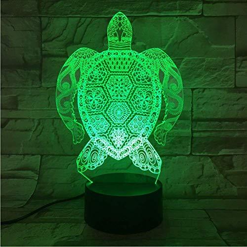 3D Lampe - Optische Täuschung 7 Farben Berühren Die Fernbedienungtierstile, Diverse Romantische Geschenke, Schildkröte