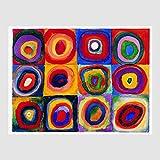 Kunstdruck Poster Bild Wassily Kandinsky - Farbstudie Quadrate 80 x 60 cm ohne Rahmen