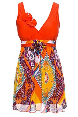 wantdo-damen-badebekleidung-retro-geduckt-chiffon-badeanzug-orange-medium