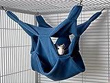 Rodents Residence DREI Ebenen Hängematte (Blau) Kleintier Höhle Haus Häuschen Ratte Chinchilla Frettchen Hamster Degu Frettchen