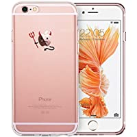 iPhone 6 / 6S Hülle (4,7 Zoll), ESR® Mania Series Transparent Weiche Silikon Schutzhülle TPU Bumper Case für iPhone 6/6S (Übel)