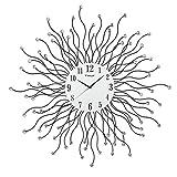 FXJ Wanduhr große Wohnzimmer wanduhr kreative stumm Quarz taschenuhr Ultra Moderne Mode Uhr