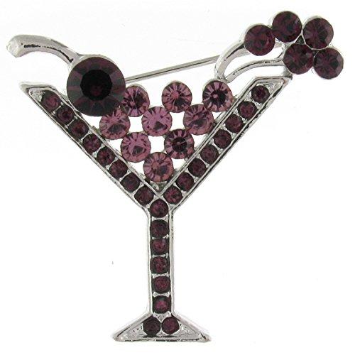Brooches store black diamond-spilla con cristallo swarovski, ciondolo a forma di torre eiffel