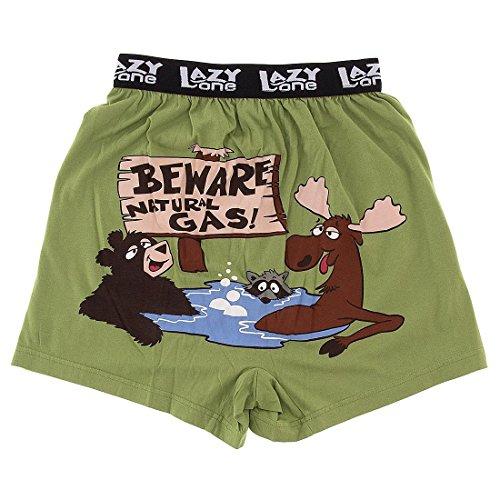 LazyOne Beware of Natural Gas Boxer Short Herren Gr�n