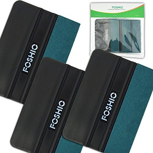 FOSHIO-Black-Card-Lavavetri-Con-Verde-micro-fibra-feltro-bordo-4-pollici-auto-vinile-Installazione-strumento-utile-per-vinile-auto-del-regalo-Pack-3