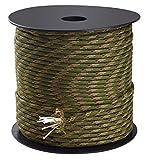 Trexi Paracord-Seil mit 250kg geprüfter Traglast | original 7-Strands-Core | US MIL-Spec 5040-H Type III | 100m Spule | 550 Cord | Fallschirmleine (Tarnfarben)