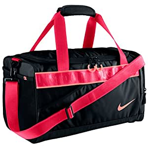 Nike Damen Sporttasche Varsity Duffel, Black/Atomic Pink, 50 x 25 x 5 cm, 5 Liter, BA4732-006