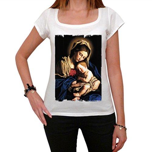 Mary Baby Jesus Damen T-shirt Weiß