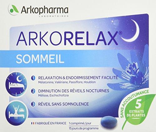 Arkopharma Arkorelax Stress/Sommeil 15 Comprimés sous Blister