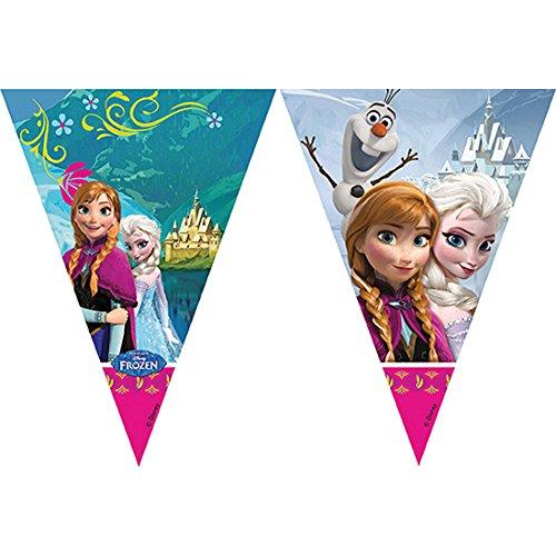 Frozen Triángulo Bandera Banner 9pulgadas personajes de Disney Elsa, Anna Olaf nuevo oficial artículo