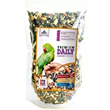 Razretail Parrots & Conure Food, Variety of 14 Seed Mix with Almond, Stripped Sunflower, Red Millet & Other Vital Ingredients, Specially Formulated & Aroma Seal Pack (450g)