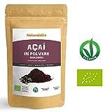 Bacche di Açai Biologiche in Polvere [ Freeze - Dried ] 200 gr. 100% Prodotto in Brasile, Liofilizzato, Crudo ed Estratto dalla Polpa della Bacca di Acai. Superfood Ricco di Antiossidanti e Vitamine.