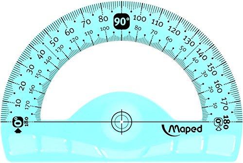 Rapporteur demi-circulaire Flex Incassable 180 degrés 12 cm
