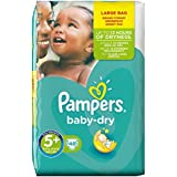 Pampers Baby Dry Size 5+ (Junior+) Large Pack, 48 Nappies
