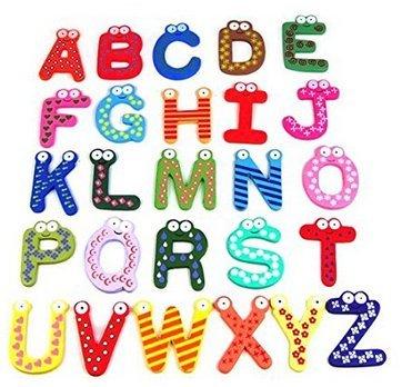 Holz & # xff1b; Alphabet Kühlschrank Magnet Toys & # xff1b; Lustiges Design & # xff1b; Gute Bildungs-Spielzeug