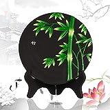 Interiores artesanía de tallado de carbono del medio ambiente, la pintura decorativa mesa de estampado de flores, regalos creativos prácticos , D