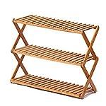 51Jg7CqCXPL. SS150 XIAOLVSHANGHANG HORS Racchetta di Scarpe Pieghevole Creative Simple Cabinet Cabinet Fiori di bambù Multi Livello (Multi…
