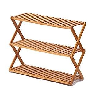 51Jg7CqCXPL. SS300 XIAOLVSHANGHANG HORS Racchetta di Scarpe Pieghevole Creative Simple Cabinet Cabinet Fiori di bambù Multi Livello (Multi…