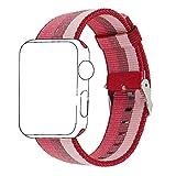 Zantec Conector de nylon tejido colorido de la pulsera de la correa del reloj del deporte del arco iris para Apple Iwatch