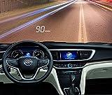 Auto HUD Head-up Display Car Universal Driving Computer OBD Auto velocità a schermo piatto HD multifunzione Proiezione , white light