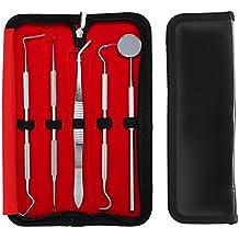 BlueBeach® Acero Inoxidable Kit de Cuidado Dental Higiene Limpieza Dental Set con Tartar Cálculo Removedor