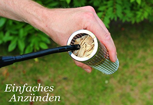 BBeeQ Räucherröhre 15cm aus Edelstahl – Kaltrauch-Zubehör für Gasgrill und Kohlegrill – Räucherbox, Pellet-Smoker