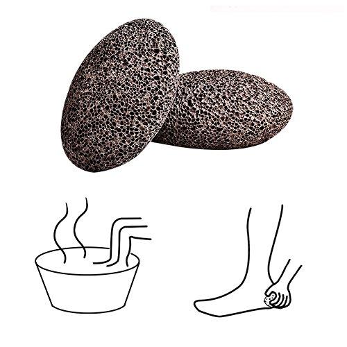 Bimsstein, D & & R Hornhaut Entferner natürlichen vulkanischen Stein für Fußpflege Peeling Pediküre Tools, rot, 2Stück