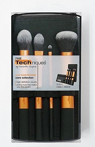 REAL TECHNIQUES Makeup Brush - Core Collection Brush on set Boxed - NIB by Real Techniques