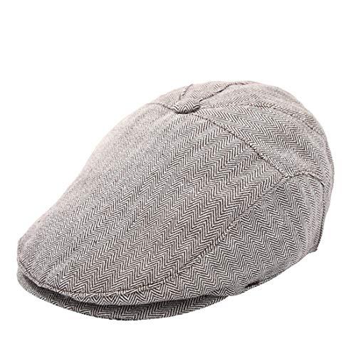 Foruhoo Kinder Schiebermütze für Jungen, Baby Baskenmütze Kapppe Hüte Cap (Khaki, 49cm / 6-16 Monate)