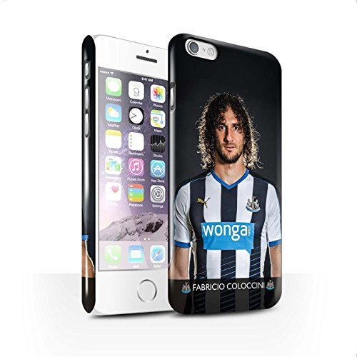Offiziell Newcastle United FC Hülle / Glanz Snap-On Case für Apple iPhone 6 / Pack 25pcs Muster / NUFC Fussballspieler 15/16 Kollektion Coloccini