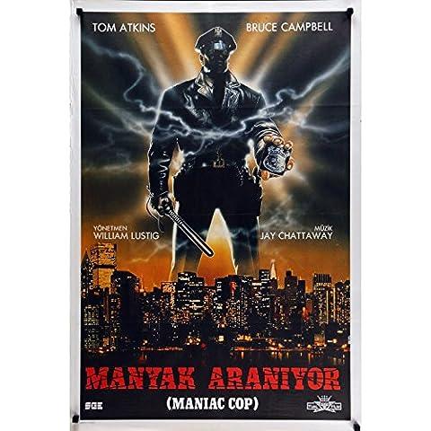Maniac Cop film poster 29x 40in.–1988–William Lustig, Bruce Campbell