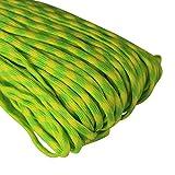 Paracord Seil Schnüre Nylon Outdoor Seil 4mm Stärke 7 Strängen Nylonschnur Fallschirmschnur Mehrzweck-Seil 250kg (550lbs) Bruchfestigkeit / Erhältlich in vielen verschiedenen Länge und Farben (U-003#, 50ft / 15m)