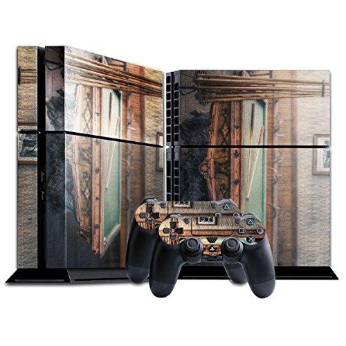 Spiel 008, Snooker, Designfolie Sticker Skin Aufkleber Schutzfolie mit Farbenfrohem Design für Playstation 4 CUH 1200