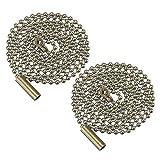 Mobestech - Catena di prolunga per ventilatore da soffitto, 2 pezzi, con perline in bronzo