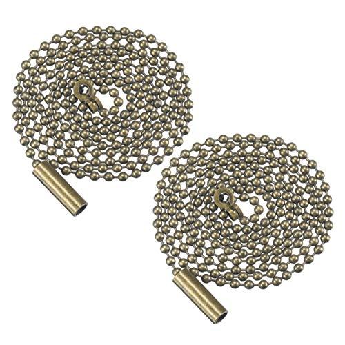Mobestech 2 piezas de extensión de cadena de tracción con cuentas de bronce con conector de reemplazo...