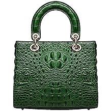 Mena UK-Nuevo patrón de cocodrilo de las mujeres de cuero artificial multiusos Casual bolso de cuero suave / bolso de hombro / bolso de Diana