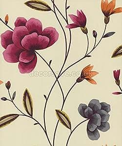 Papier Peint Fantaisie Prune/Crème 96864 - Havana
