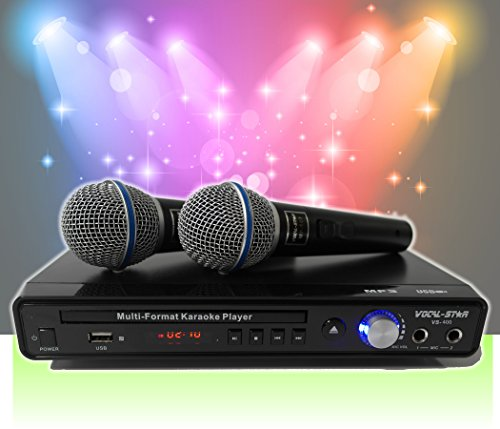 Vocal-Star VS-400 con 2 micrófonos y canciones