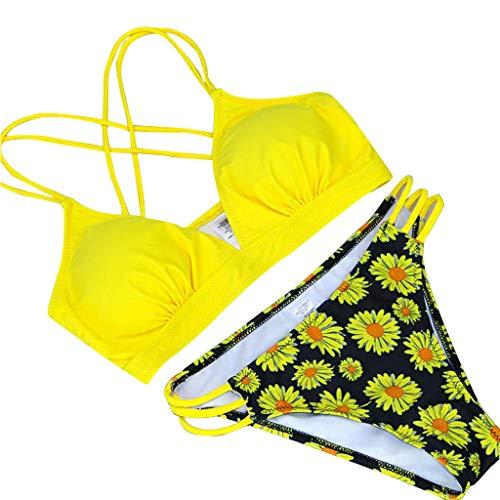 Brazilian Girl Push Up Bodysuit Back Strap Push-Up-BH Badeanzug Bademode Frauen Sexy Straps Solide Bikini Set Badeanzug, Tankini Bikini BH Beachwear, Strandbadeanzug Bikini swimsuit swimanzug swimwear