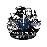 Studio Ghibli-Discos de Vinilo reloj de pared-habitación de los niños decoración de la pared-Ideas de regalo para los niños, bebé, hermano y hermana, él y ella