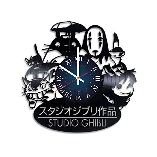 My STORE For YOU Studio Ghibli Wanduhr aus Vinyl, für Kinderzimmer, Geschenkidee für Kinder, Baby, Bruder und Schwester, Ihn und Sie (Kostüm Für Bruder Und Schwester)