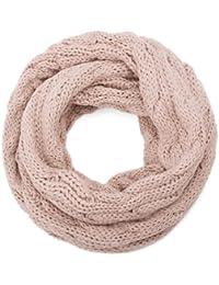 style3 Strick Loop-Schal mit Zopfmuster in Verschieden Farben Winterschal