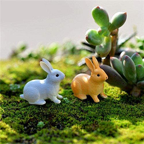 TOOGOO Kaninchen Ornament Miniatur Figur Fee Garten Dekor Dekoration Micro-Landschaft Terrarium Geschenk (Ornamenten Fee)