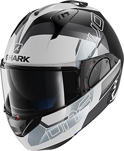 HE9714EWKS : Casco moto SHARK EVO-ONE 2 SLASHER BLANCO NEGRO PLATA tal